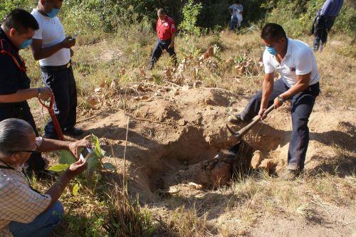 Hasta el momento van 11 fosas clandestinas halladas en Iguala. Foto: Especial